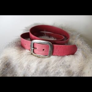 3-$15 SALE Pink genuine leather belt